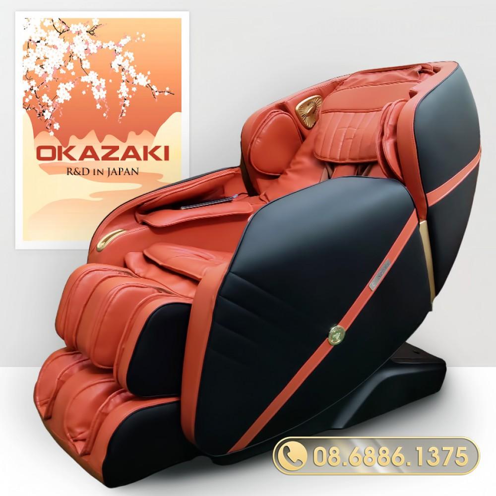 Ghế massage toàn thân OKAZAKI JS-9100 (điều khiển giọng nói tiếng Việt)